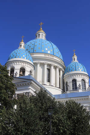 Trinity Izmailovsky Cathedral. Cathedral of the Holy Life-Giving Trinity of the Life Guards Izmailovsky Regiment. Saint-Petersburg.