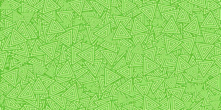 Green Triangles Ð¡oncentric Polygons Backgrounds. Seamless Hypnotic Psychedelic Compositions. Stock Photo