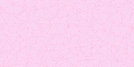 Light Pink Triangles Ð¡oncentric Polygons Backgrounds. Seamless Hypnotic Psychedelic Compositions.