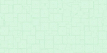 Light Green Squares Ð¡oncentric Polygons Backgrounds. Seamless Hypnotic Psychedelic Compositions.