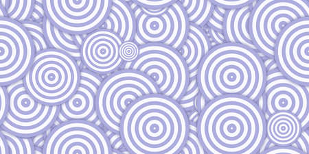 Purple Circles Ð¡oncentric Polygons Backgrounds. Seamless Hypnotic Psychedelic Compositions. Stock Photo