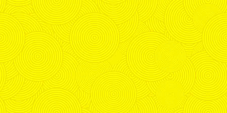 Yellow Circles Сoncentric Polygons Backgrounds. Seamless Hypnotic Psychedelic Compositions. Stock Photo - 111434865