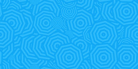 Blue Octagons Ð¡oncentric Polygons Backgrounds. Seamless Hypnotic Psychedelic Compositions. Stock Photo