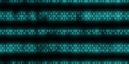 Blue Data Code Background. Seamless Science Data Code Output Sequence. Human Individuality Code Backdrops.