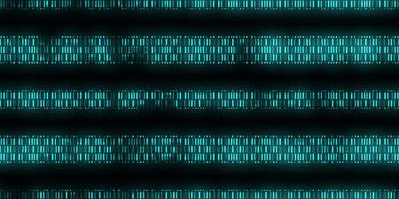 Fondo de código de datos azul. Secuencia de salida perfecta del código de datos científicos. Telones de fondo del código de la individualidad humana.