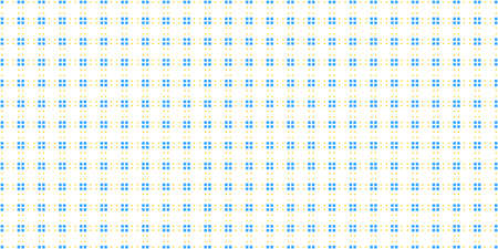 Yellow Blue Cell Checks Background. Seamless Checkered Picnic Tablecloth Texture. Classic Plaid Geometric Checks.