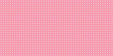Pink Cell Checks Background. Seamless Checkered Picnic Tablecloth Texture. Classic Plaid Geometric Checks. Stock Photo