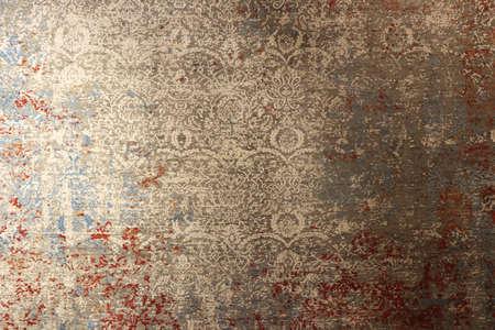 Schöne Textilteppich-Dekorkulisse. Textur des türkischen orientalischen Teppichs. Traditioneller Bodenbelag-Designhintergrund.