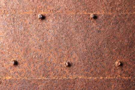 Rusted metallic door with nail heads texture
