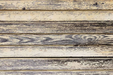 Old painted wooden background. Weathered grunge planks texture. Horizontal along direction. Stock Photo
