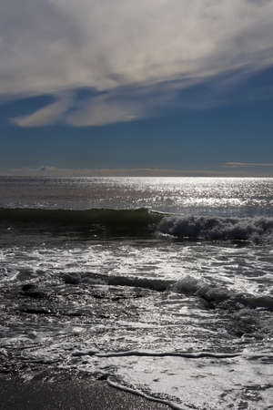 Waves in sunlight seascape. Alanya. Turkey. Stock Photo