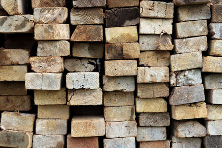 Timber butts texture. Rough grunge wooden background. Stock Photo