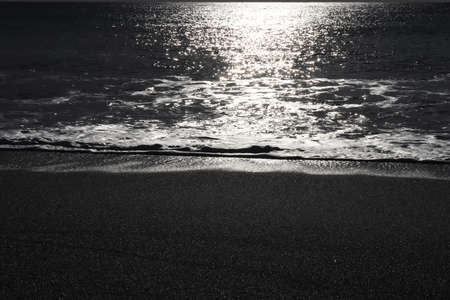 Calm sea beach with sunlight seascape Stock Photo