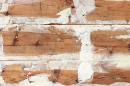 Repaired wooden ship board background. Wood planks epoxy resin repairing shipboard texture. Stok Fotoğraf