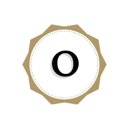 Letter O Monogram Illustration. Lettering Symbol O Logotype. Retro Vintage Elegant Style.
