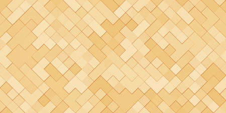 Gold Metal Squares Texture. Seamless Golden Pattern. Banque d'images