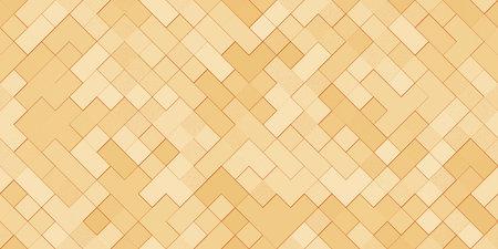 Gold Metal Squares Texture. Seamless Golden Pattern. Reklamní fotografie