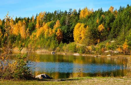 Autumn landscape photo