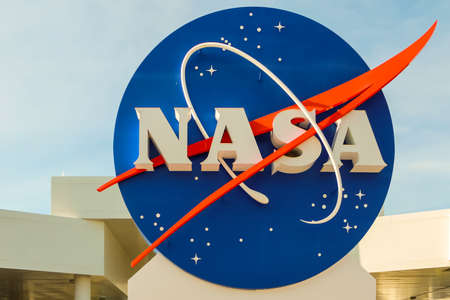 cape canaveral: KENNEDY SPACE CENTER, CAPE CANAVERAL, FLORIDA - May 3, 2013 - Nasa sign at the entrance of Kennedy Space Center Editorial