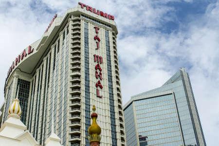 ATLANTIC CITY, NEW JERSEY - June 23, 2013 - Trump Taj Mahal Hotel and Casino at Atlantic City Boardwalk