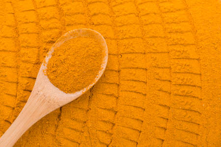 Turmeric powder Stock Photo