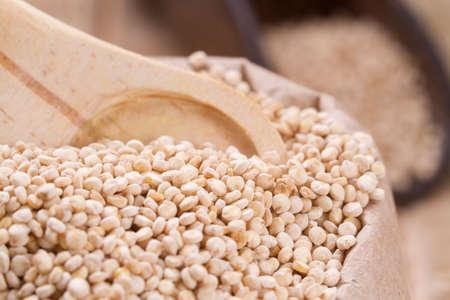 quinoa beans in bowl on the table. Reklamní fotografie