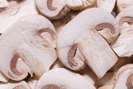 sliced mushrooms 版權商用圖片