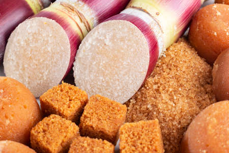 Sugarcane and sugarcane, panela and sugar cane derivatives, image Imagens