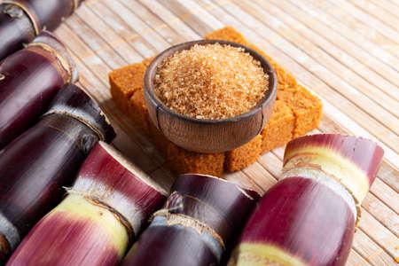 Sugarcane and sugarcane, panela and sugar cane derivatives, image