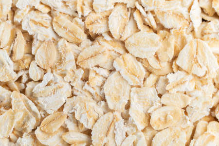 oat flakes, close-up image top view, texture