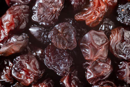 delicious raisins, close-up image top view