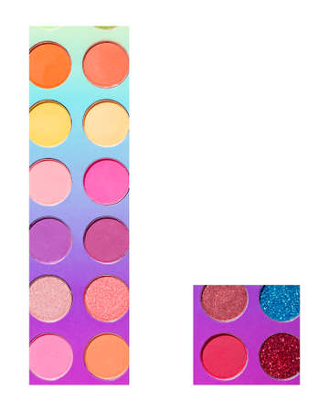 Alphabet letter l, with colorful circles background