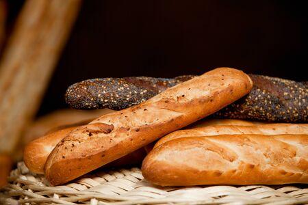 Whole Wheat Bread Slide in a Basket