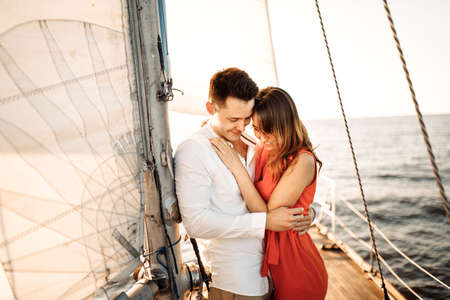The moment of the marriage proposal, she said YES, the proposal on the yacht. ...