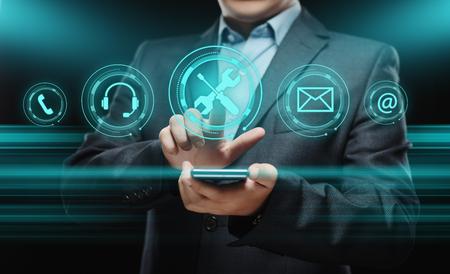 Technical Support Customer Service Business Technology Internet Concept Archivio Fotografico