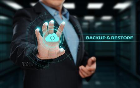 백업 저장소 데이터 인터넷 기술 비즈니스 개념입니다.