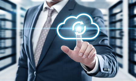 sauvegarde de données de stockage internet concept de technologie d & # 39 ;