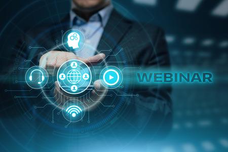 웹 세미나 이러닝 교육 비즈니스 인터넷 기술 개념.