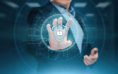Cyber Security Data Protection Business Technology Privacy concept. Banco de Imagens
