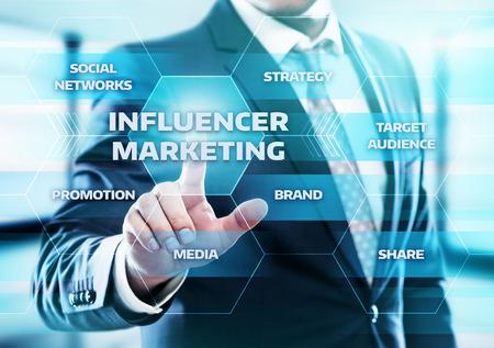 Influencer marketing stratégie concept Banque d'images - 87113845