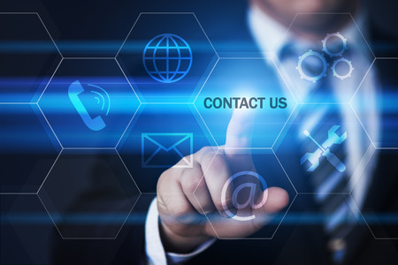 Contact us Support Service Business Technology Internet Concept.