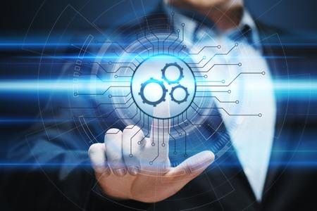 Concetto di business del sistema di tecnologia di automazione di automazione di automazione