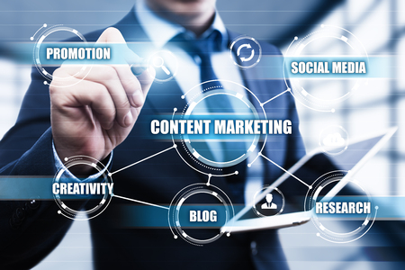 seo: Content Marketing Strategy Business Technology Internet Concept.