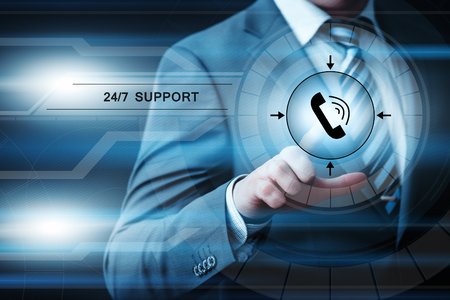 clock: Support Service Customer Help Assistance Business concept.