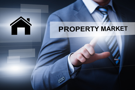 residential: Property Investment Management Real Estate Market Internet Business Technology Concept.
