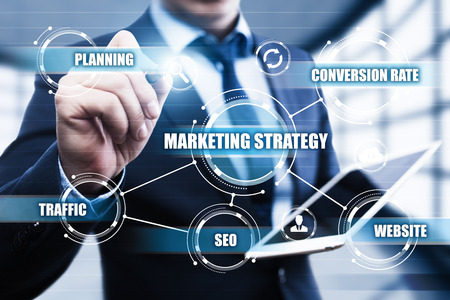seo: Marketing Strategy Business Advertising Plan Promotion concept. Stock Photo