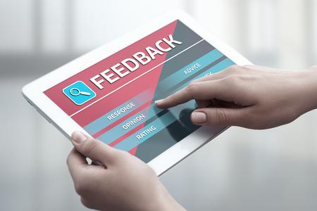 フィードバック ビジネス品質の意見サービス コミュニケーション コンセプトです。