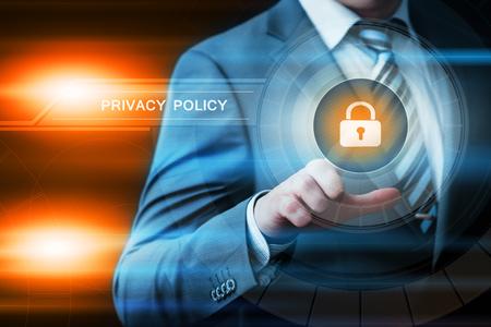 개인 정보 보호 정책 데이터 보호 안전 사이버 보안 비즈니스 인터넷 기술 개념. 스톡 콘텐츠
