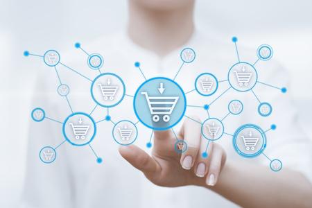 Voeg toe aan winkelmandje Internet Web Store-concept.