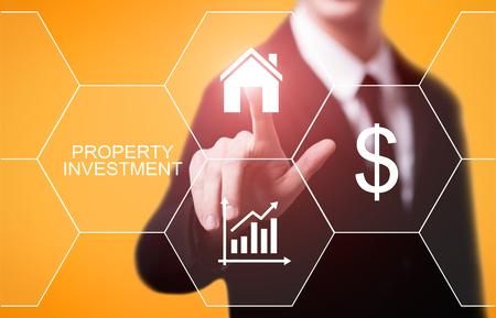 Gestion de l'investissement immobilier Marché immobilier Internet Business Technology Concept.